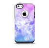 The Blue and Purple Translucent Glimmer Lights Skin for the iPhone 5c OtterBox Commuter Case