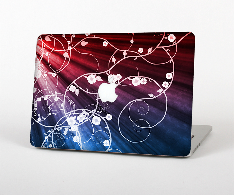 "The Blue and Red Light Arrays with Glowing Vines Skin Set for the Apple MacBook Pro 15"" with Retina Display"