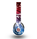 The Blue and Red Light Arrays with Glowing Vines Skin for the Beats by Dre Original Solo-Solo HD Headphones