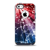 The Blue and Red Light Arrays with Glowing Vines Skin for the iPhone 5c OtterBox Commuter Case