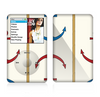 The Blue and Red Simple Anchor Pattern Skin For The Apple iPod Classic