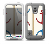 The Blue and Red Simple Anchor Pattern Skin for the Samsung Galaxy S5 frē LifeProof Case