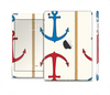 The Blue and Red Simple Anchor Pattern Skin Set for the Apple iPad Mini 4