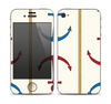 The Blue and Red Simple Anchor Pattern Skin for the Apple iPhone 4-4s
