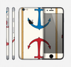 The Blue and Red Simple Anchor Pattern Skin for the Apple iPhone 6