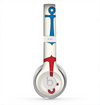 The Blue and Red Simple Anchor Pattern Skin for the Beats by Dre Solo 2 Headphones