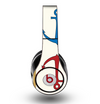 The Blue and Red Simple Anchor Pattern Skin for the Original Beats by Dre Studio Headphones