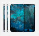 The Blue and Teal Paint Skin for the Apple iPhone 6