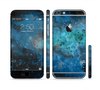 The Blue and Teal Painted Universe Sectioned Skin Series for the Apple iPhone 6 Plus