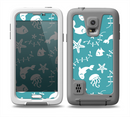 The Blue and White Cartoon Sea Creatures Skin for the Samsung Galaxy S5 frē LifeProof Case