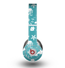 The Blue and White Cartoon Sea Creatures Skin for the Beats by Dre Original Solo-Solo HD Headphones