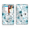 The Blue and White Floral Laced Pattern Skin For The Apple iPod Classic