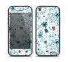 The Blue and White Floral Laced Pattern Skin Set for the iPhone 5-5s Skech Glow Case