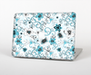 The Blue and White Floral Laced Pattern Skin for the Apple MacBook Pro 15""