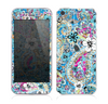The Blue and White Floral Laced Pattern Skin for the Apple iPhone 5s