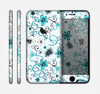 The Blue and White Floral Laced Pattern Skin for the Apple iPhone 6