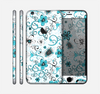 The Blue and White Floral Laced Pattern Skin for the Apple iPhone 6 Plus