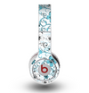 The Blue and White Floral Laced Pattern Skin for the Original Beats by Dre Wireless Headphones