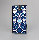 The Blue and White Mosaic Mirrored Pattern Skin-Sert Case for the Samsung Galaxy Note 3
