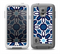 The Blue and White Mosaic Mirrored Pattern Skin for the Samsung Galaxy S5 frē LifeProof Case