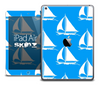 The Blue and White Nautica Boats Skin for the iPad Air