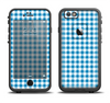 The Blue and White Woven Plaid Pattern Apple iPhone 6/6s LifeProof Fre Case Skin Set