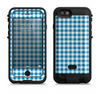 The Blue and White Woven Plaid Pattern Apple iPhone 6/6s LifeProof Fre POWER Case Skin Set