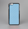 The Blue and White Woven Plaid Pattern Skin-Sert Case for the Apple iPhone 6 Plus