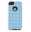The Blue and White Woven Plaid Pattern Skin For The iPhone 5-5s Otterbox Commuter Case