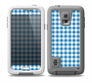 The Blue and White Woven Plaid Pattern Skin for the Samsung Galaxy S5 frē LifeProof Case