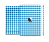 The Blue and White Woven Plaid Pattern Skin Set for the Apple iPad Mini 4