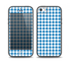 The Blue and White Woven Plaid Pattern Skin Set for the iPhone 5-5s Skech Glow Case
