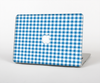 The Blue and White Woven Plaid Pattern Skin for the Apple MacBook Air 13""