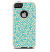 The Blue and Yellow Floral Pattern V43 Skin For The iPhone 5-5s Otterbox Commuter Case