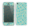 The Blue and Yellow Floral Pattern V43 Skin for the Apple iPhone 5c