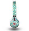 The Blue and Yellow Floral Pattern V43 Skin for the Beats by Dre Mixr Headphones
