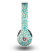 The Blue and Yellow Floral Pattern V43 Skin for the Beats by Dre Original Solo-Solo HD Headphones