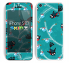 The Blue with Flying Tweety Birds Skin for the Apple iPhone 5c