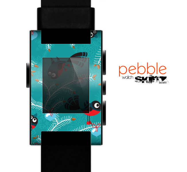 The Blue with Flying Tweety Birds Skin for the Pebble SmartWatch