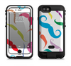The Bold Colorful Mustache Pattern Apple iPhone 6/6s LifeProof Fre POWER Case Skin Set
