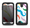 The Bold Colorful Mustache Pattern Samsung Galaxy S4 LifeProof Fre Case Skin Set
