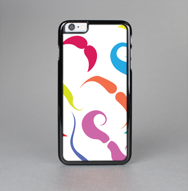 The Bold Colorful Mustache Pattern Skin-Sert Case for the Apple iPhone 6 Plus