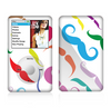 The Bold Colorful Mustache Pattern Skin For The Apple iPod Classic
