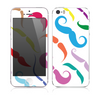 The Bold Colorful Mustache Pattern Skin for the Apple iPhone 5s