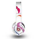The Bold Colorful Mustache Pattern Skin for the Original Beats by Dre Wireless Headphones