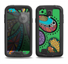 The Bold Paisley Flower Samsung Galaxy S4 LifeProof Fre Case Skin Set
