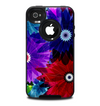 The Boldly Colored Flowers Skin for the iPhone 4-4s OtterBox Commuter Case