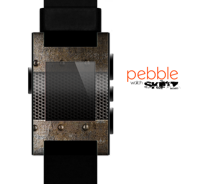The Bolted Rustic Metal Sheets Skin for the Pebble SmartWatch