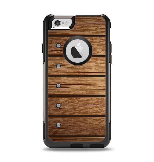 The Bolted Wood Planks Apple iPhone 6 Otterbox Commuter Case Skin Set