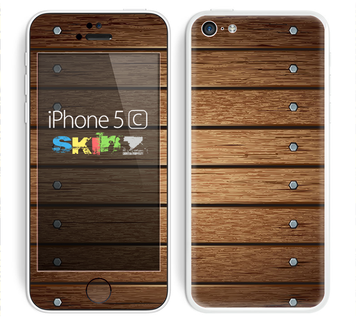 The Bolted Wood Planks Skin for the Apple iPhone 5c